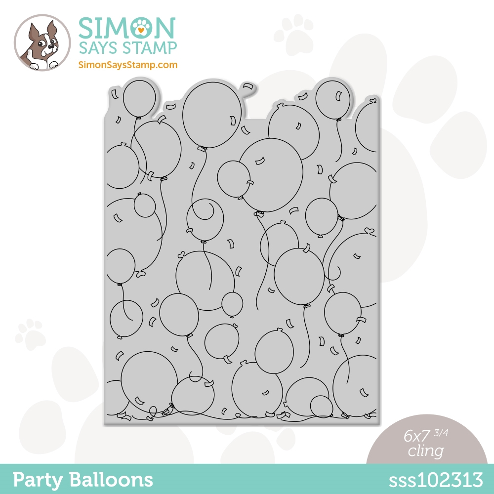 Simon Says Cling Stamp PARTY BALLOONS sss102313 Born To Sparkle zoom image