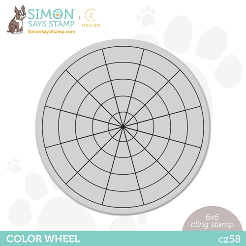 CZ Design Cling Stamp COLOR WHEEL cz58 Born To Sparkle Preview Image