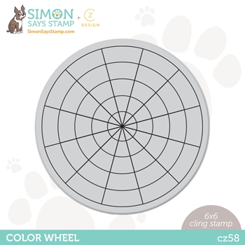CZ Design Cling Stamp COLOR WHEEL cz58 Born To Sparkle