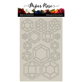 Paper Rose GEO HEXIES Chipboard 22003