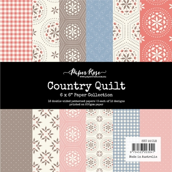 Paper Rose COUNTRY QUILT 6x6 Paper Collection 22018