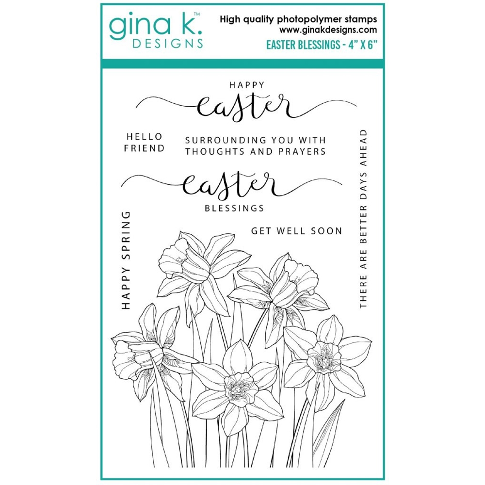Gina K Designs EASTER BLESSINGS Clear Stamps gkd0102 zoom image