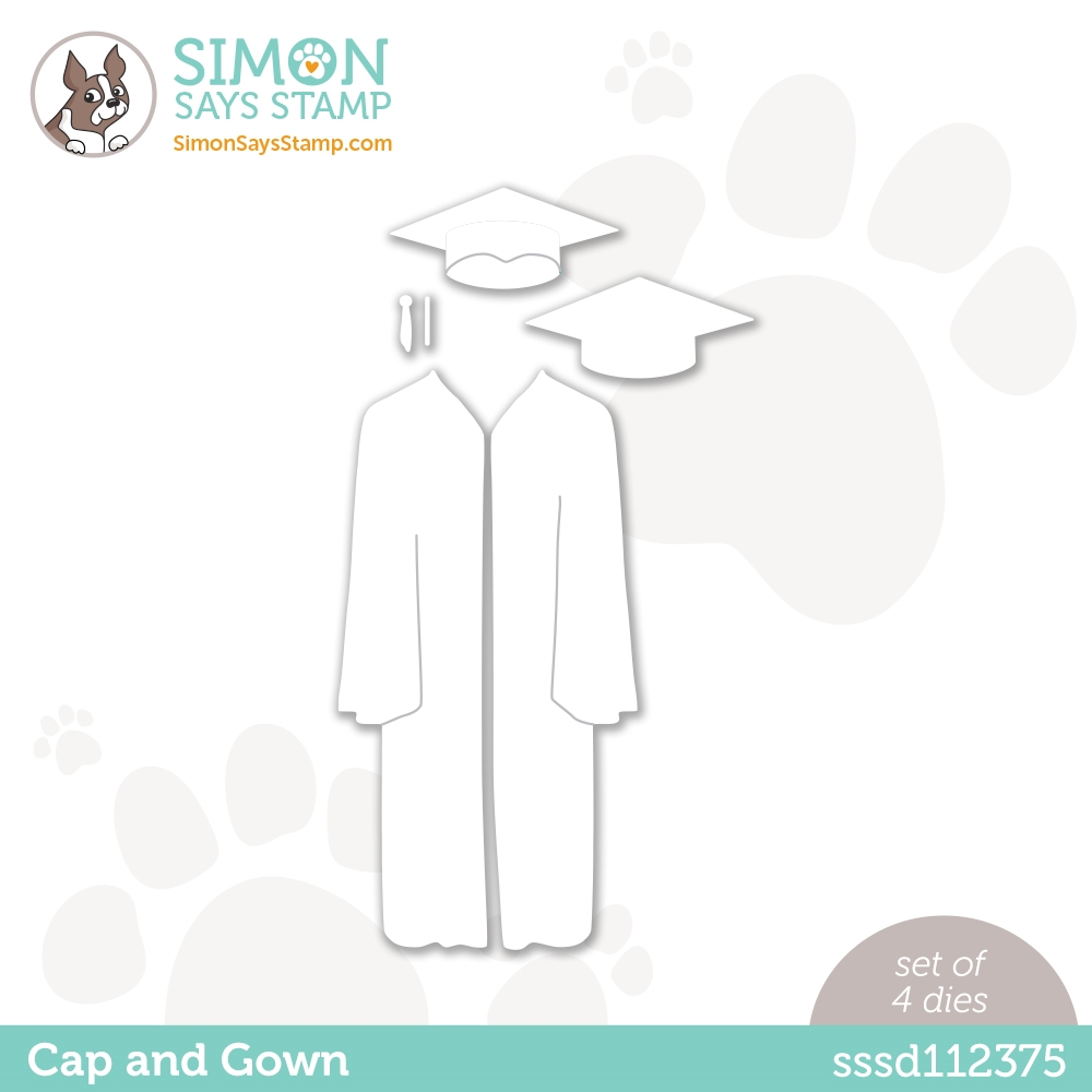 Simon Says Stamp CAP AND GOWN Wafer Dies sssd112375 Born to Sparkle zoom image