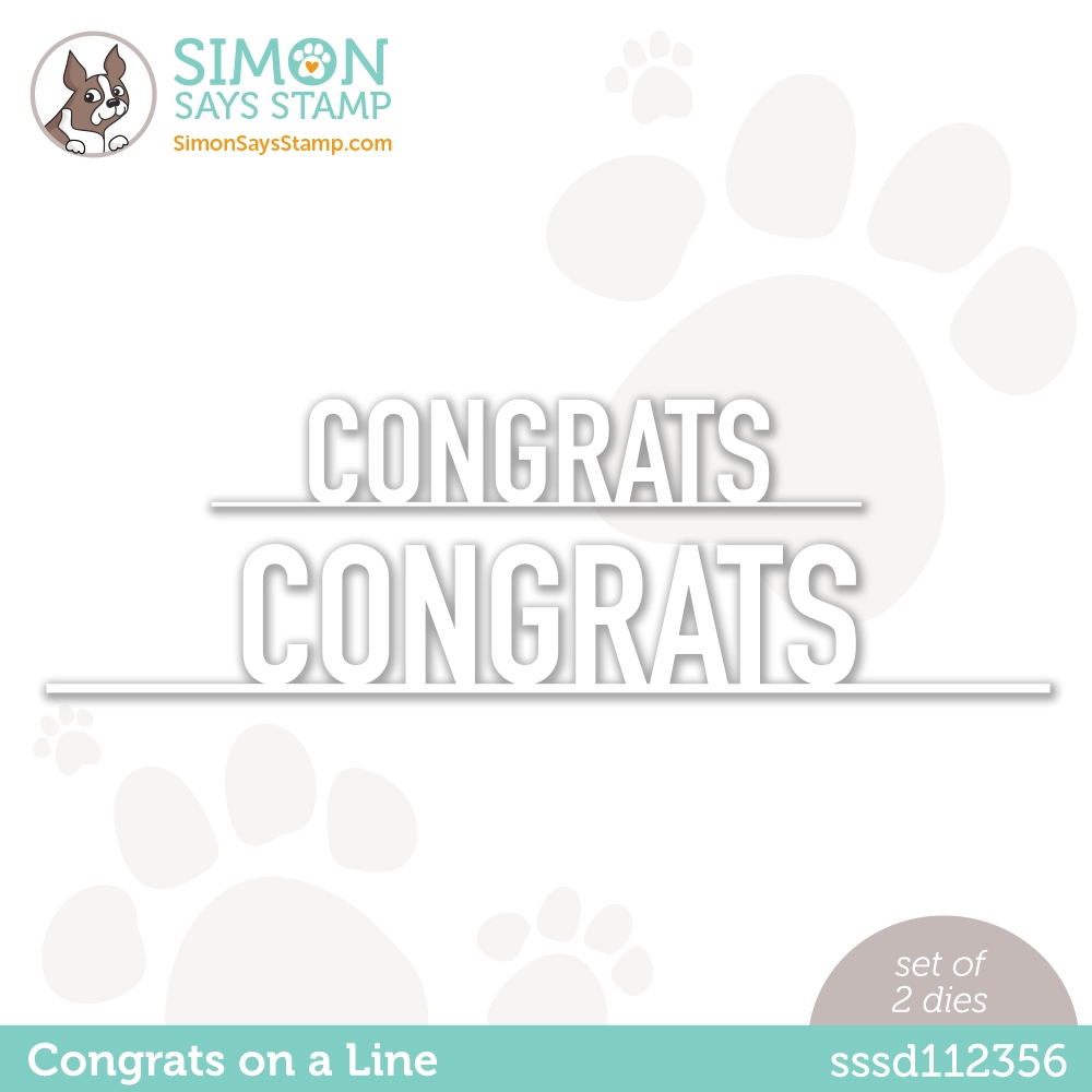 Simon Says Stamp CONGRATS ON A LINE Wafer Dies sssd112356 Born to Sparkle zoom image