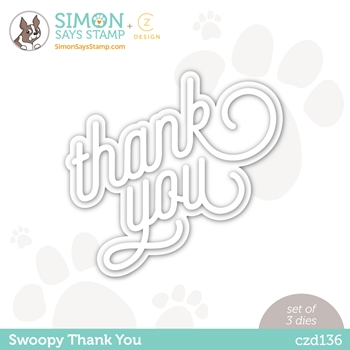 CZ Design Wafer Dies SWOOPY THANK YOU czd136 Born To Sparkle