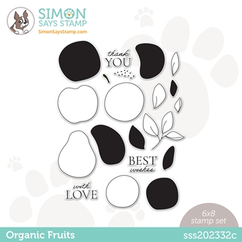 Simon Says Clear Stamps ORGANIC FRUITS sss202332c Born To Sparkle