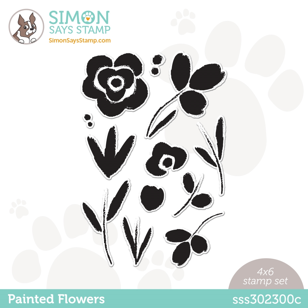 Simon Says Clear Stamps PAINTED FLOWERS sss302300c Born To Sparkle zoom image