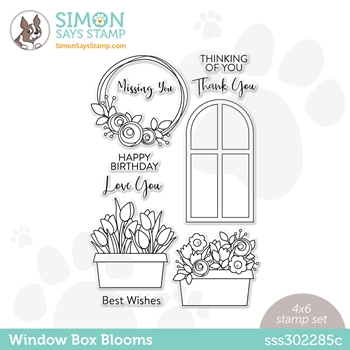 Simon Says Clear Stamps WINDOW BOX BLOOMS sss302285c Born To Sparkle