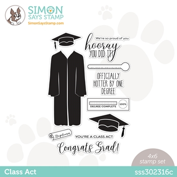 Simon Says Clear Stamps CLASS ACT sss302316c Born To Sparkle