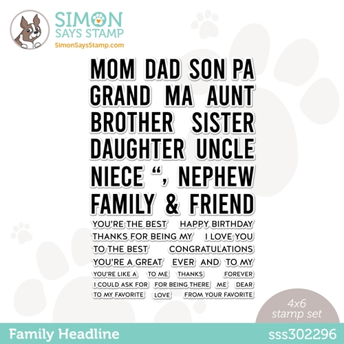 Simon Says Clear Stamps FAMILY HEADLINE sss302296 Born To Sparkle Preview Image
