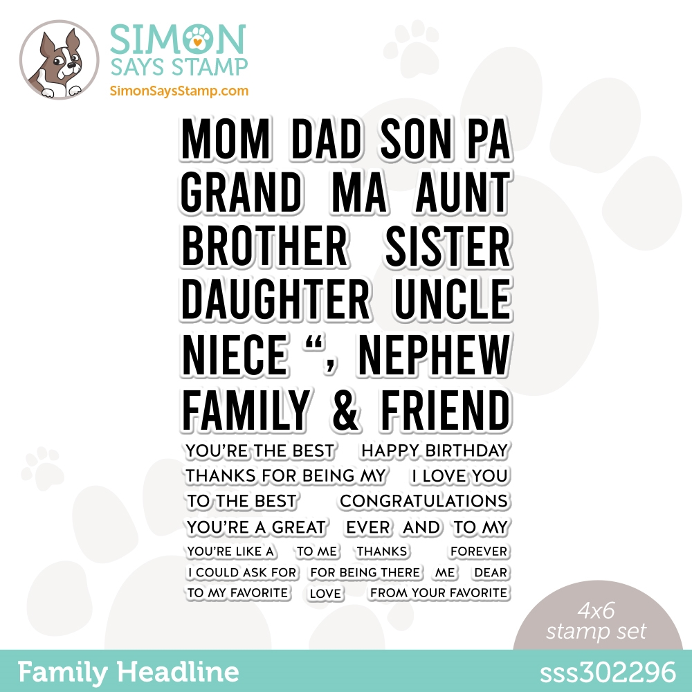 Simon Says Clear Stamps FAMILY HEADLINE sss302296 Born To Sparkle zoom image
