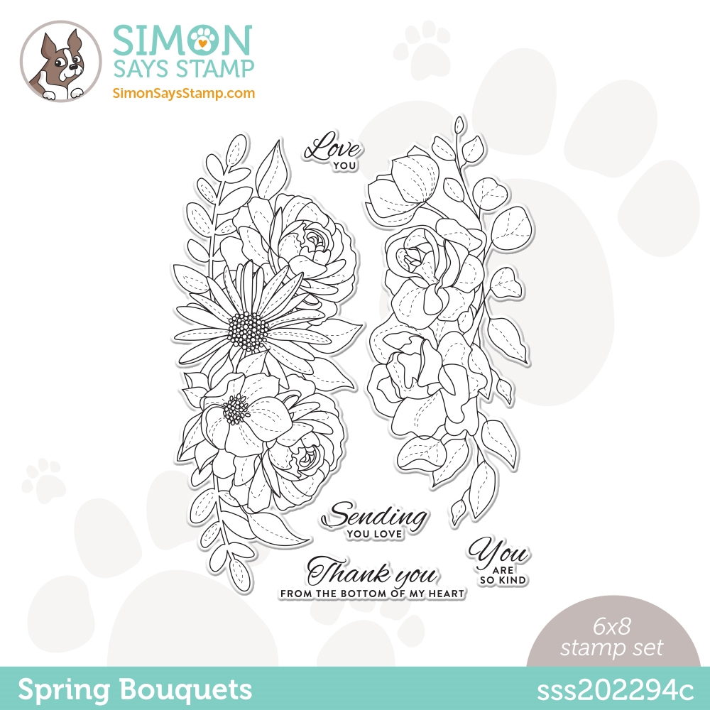 Simon Says Clear Stamps SPRING BOUQUETS sss202294c Born To Sparkle zoom image