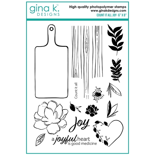 Gina K Designs COUNT IT ALL JOY Clear Stamps lh17 Preview Image