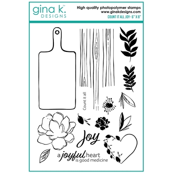 Gina K Designs COUNT IT ALL JOY Clear Stamps lh17