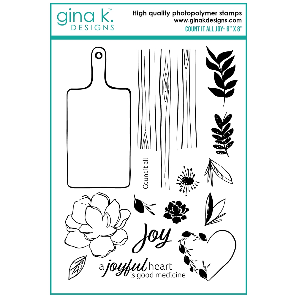 Gina K Designs COUNT IT ALL JOY Clear Stamps lh17 zoom image