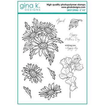 Gina K Designs SWEET SPRING Clear Stamps hs22