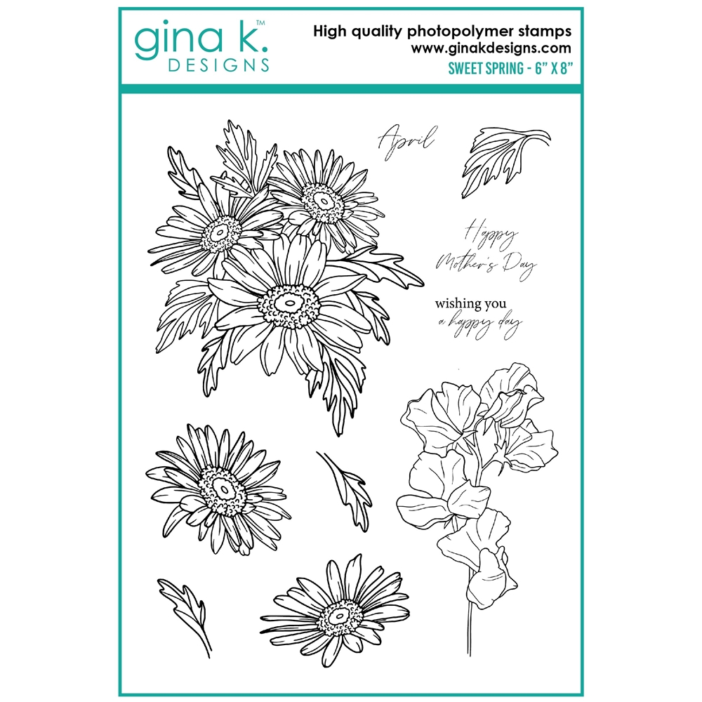 Gina K Designs SWEET SPRING Clear Stamps hs22 zoom image