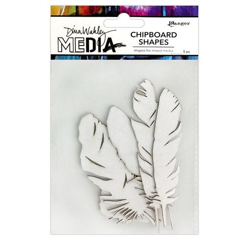 Ranger Dina Wakley Media FEATHERS Chipboard Shapes mda74915 Preview Image