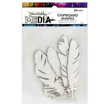 Ranger Dina Wakley Media FEATHERS Chipboard Shapes mda74915