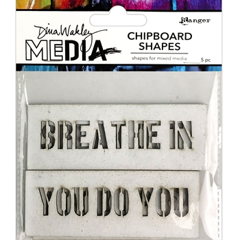 Ranger Dina Wakley Media SPEAK OUT Chipboard Shapes mda74953