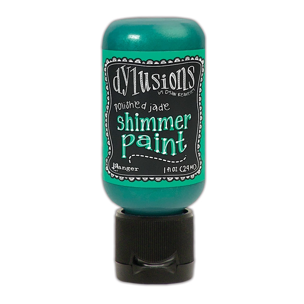Ranger Dylusions 1oz POLISHED JADE Shimmer Paint dyu74441 zoom image