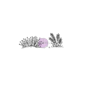 Purple Onion Designs COUNTRY FLOWER SET Cling Stamp pod1222
