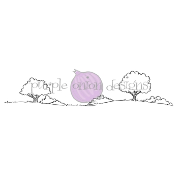 Purple Onion Designs COUNTRYSIDE Cling Stamp pod1220