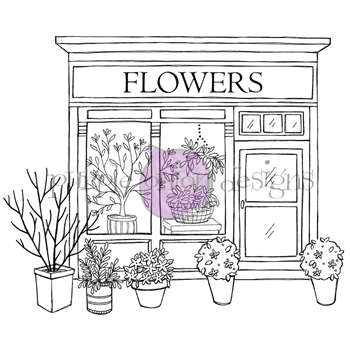Purple Onion Designs FLOWER SHOP Cling Stamp pod1216