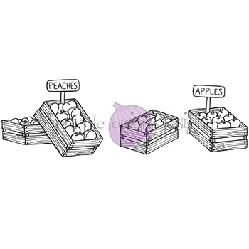 Purple Onion Designs FRUIT CRATES Cling Stamp pod1223