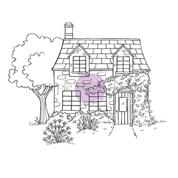 Purple Onion Designs IVY COUNTRY COTTAGE Cling Stamp pod1217