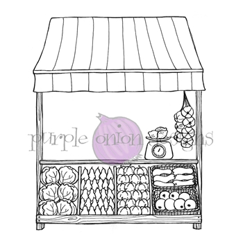 Purple Onion Designs PRODUCE STAND Cling Stamp pod1218