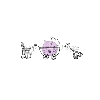Purple Onion Designs PUSHABLES SET Cling Stamp pod1234