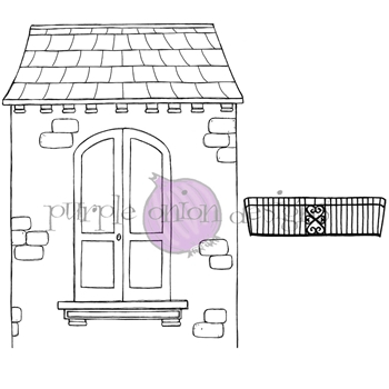 Purple Onion Designs ROOM WITH A VIEW Cling Stamp pod1214