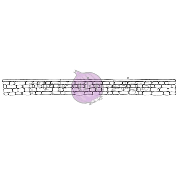 Purple Onion Designs STONE WALL Cling Stamp pod1219