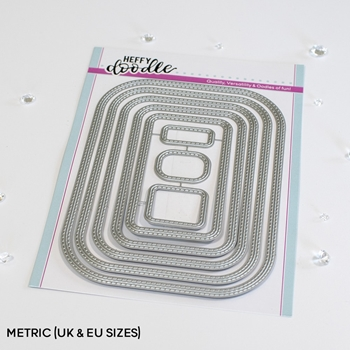 Heffy Doodle STITCHED ROUNDED METRIC RECTANGLE Dies hfd0350