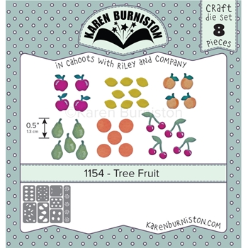 Karen Burniston TREE FRUIT Die Set 1154