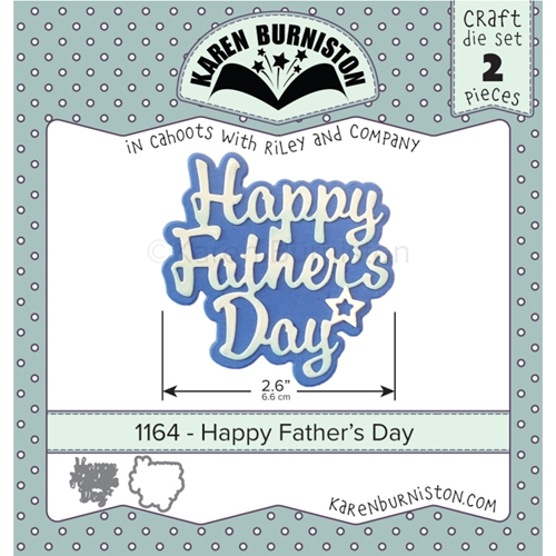 Karen Burniston HAPPY FATHER'S DAY Die 1164 Preview Image