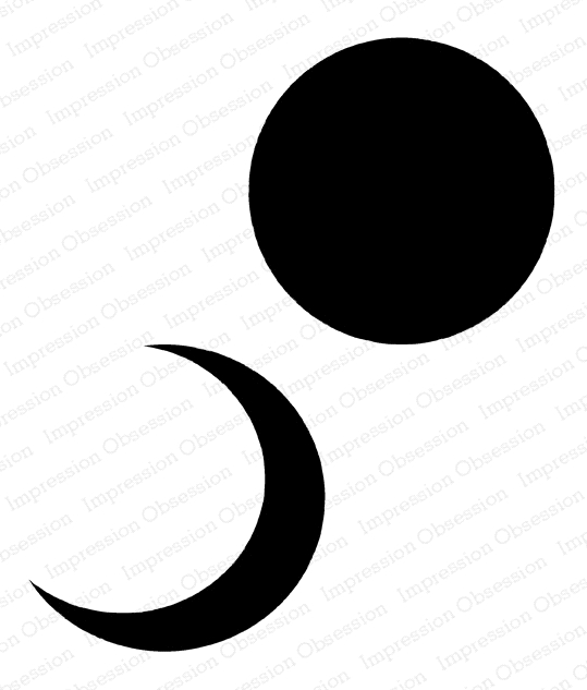 Impression Obsession Cling Stamp MOON H5749 zoom image
