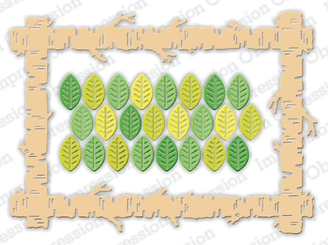 Impression Obsession BIRCH TREE RECTANGLE Dies DIE1061 ZZ Preview Image