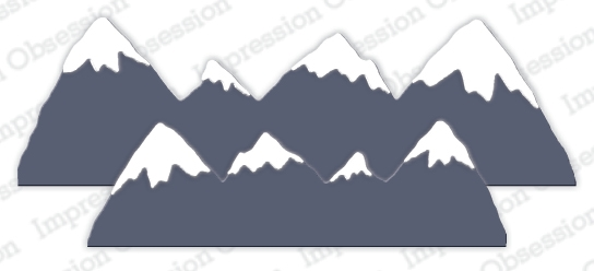 Impression Obsession SNOW CAPPED MOUNTAINS Dies DIE1065 Z zoom image