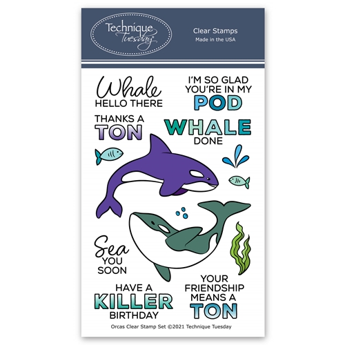 Technique Tuesday ORCAS Clear Stamps orcas Preview Image