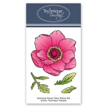 Technique Tuesday ANEMONE FLOWER Clear Stamps gsane