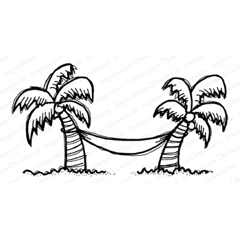 Impression Obsession Cling Stamp HAMMOCK TIME F21374