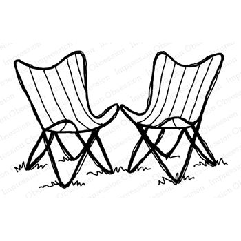 Impression Obsession Cling Stamp CHAIRS E21380