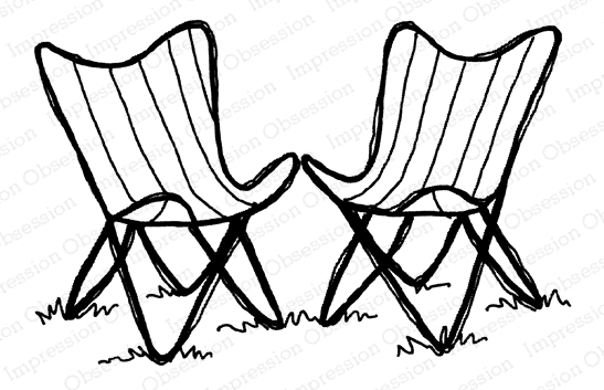 Impression Obsession Cling Stamp CHAIRS E21380 zoom image