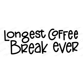 Impression Obsession Cling Stamp COFFEE BREAK C21373