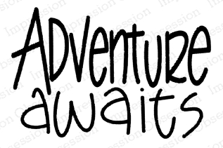Impression Obsession Cling Stamp ADVENTURE AWAITS C21382 Preview Image