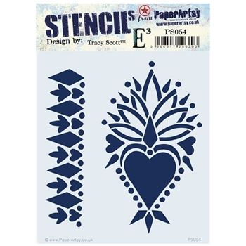 Paper Artsy ECLECTICA3 TRACY SCOTT Stencil ps054*