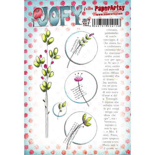 Paper Artsy JOFY 102 Cling Stamps jofy102 Preview Image