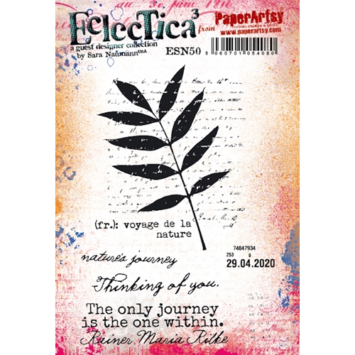 Paper Artsy SARA NAUMANN ECLECTICA3 50 Cling Stamps esn50 Preview Image
